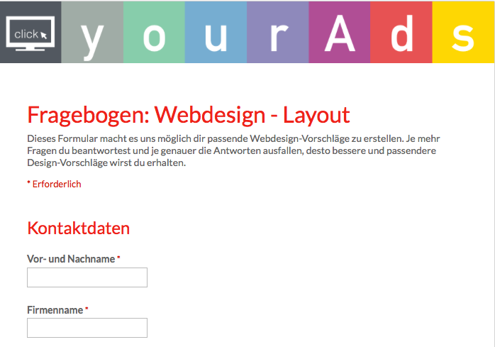 Webdesign Beratung