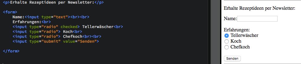 HTML-Tutorial - Formular