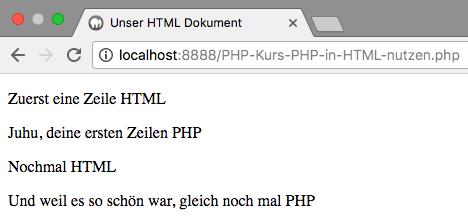 PHP in HTML nutzen - Abbildung 1
