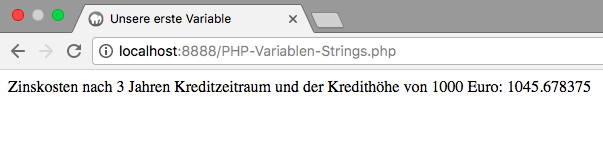 PHP-Variablen und deren Operatoren - Strings.