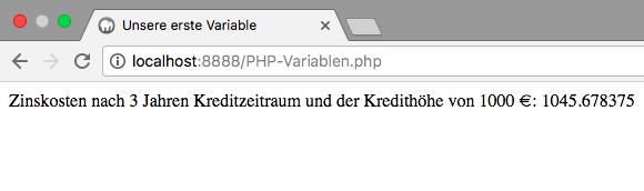 PHP-Variablen und deren Operatoren